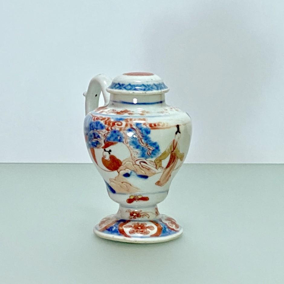 """Chine -  Moutardier à décor dit """"Imari"""" - Époque Kangxi (1662- 1722)"""