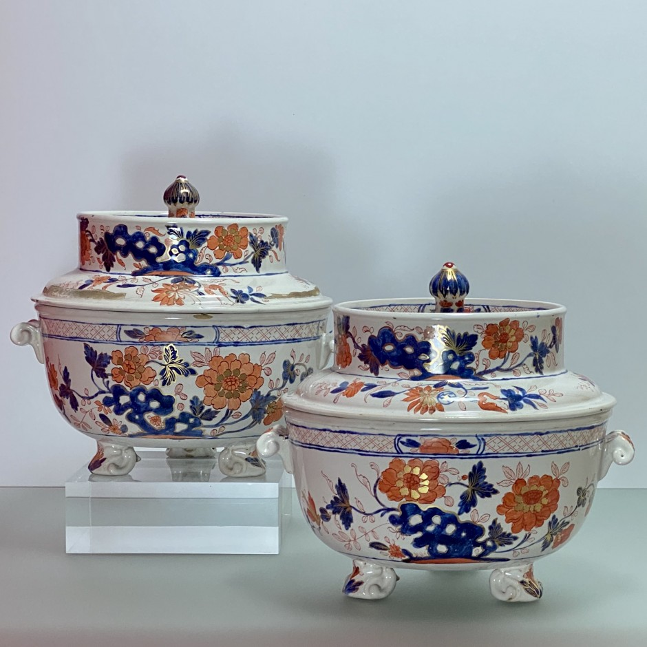 Pair of earthenware coolers from Milan - Pasquale Rubati factory - Eighteenth century
