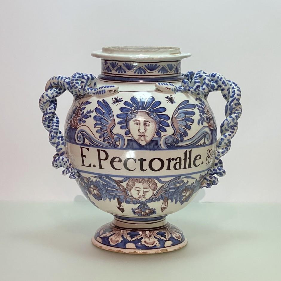 Montpellier – Fabrique Olliver - Grand vase de montre - Vers 1700