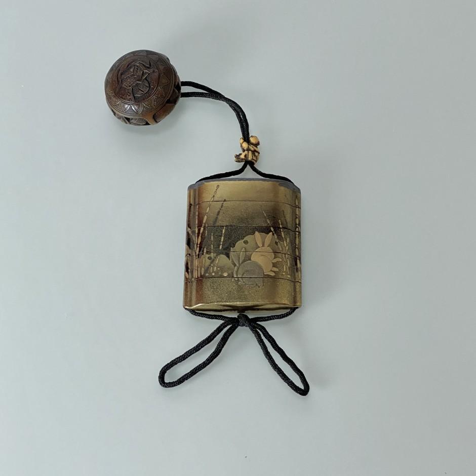 Inro à cinq compartiments en laque - Japon - Fin de l'époque Edo (1603 - 1868) - VENDU