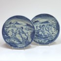 Savone – Paire de plats en camaïeu bleu – Vers 1700 - VENDU