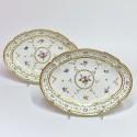 Manufacture du Duc d'Angoulême - Paire de plats en porcelaine - XVIIIe siècle - VENDU