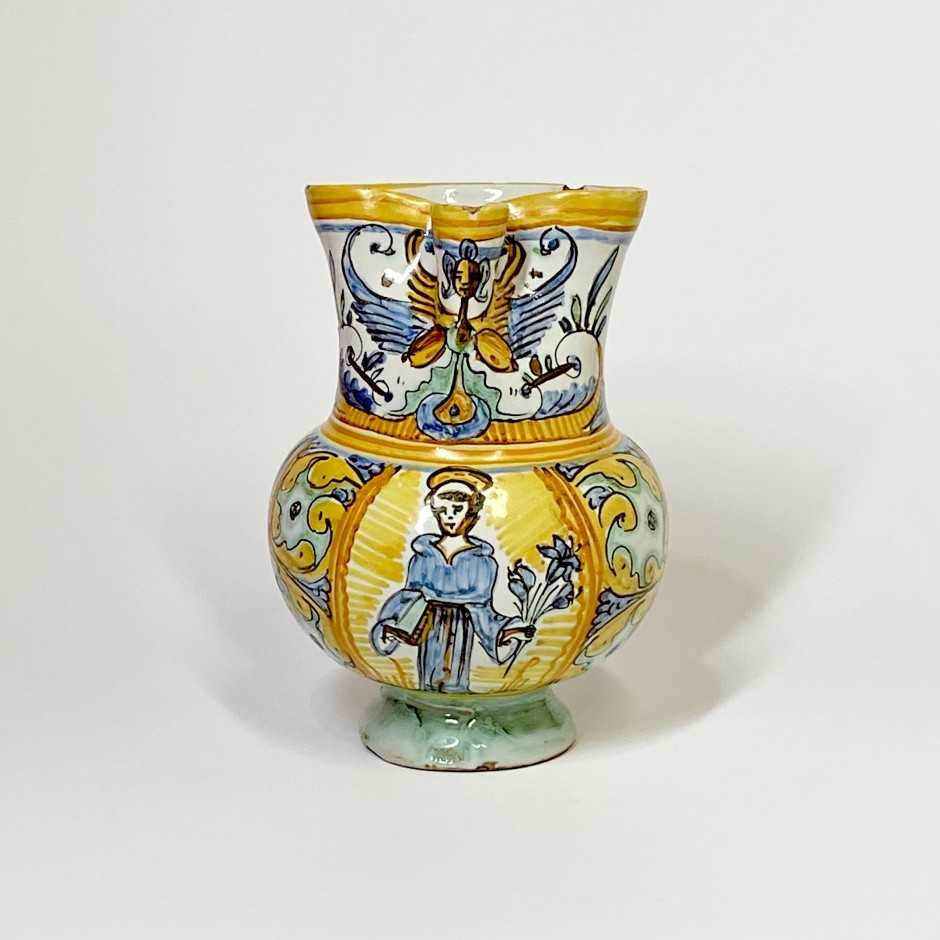 Deruta ou Pesaro - Pichet à col pincé - XVIIe siècle
