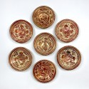 Hispano-Mauresque - 7 petites coupes en céramique lustrée - XVIIIe siècle