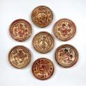 Hispano Moorish - 7 small cuts ceramic luster - eighteenth century