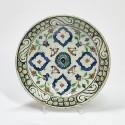 Iznik - Plat à décor de quatre mandorles - XVIIe siècle - VENDU
