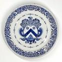Rouen - Grand plat à décor d'armoiries - Premier tiers du XVIIIe siècle - VENDU