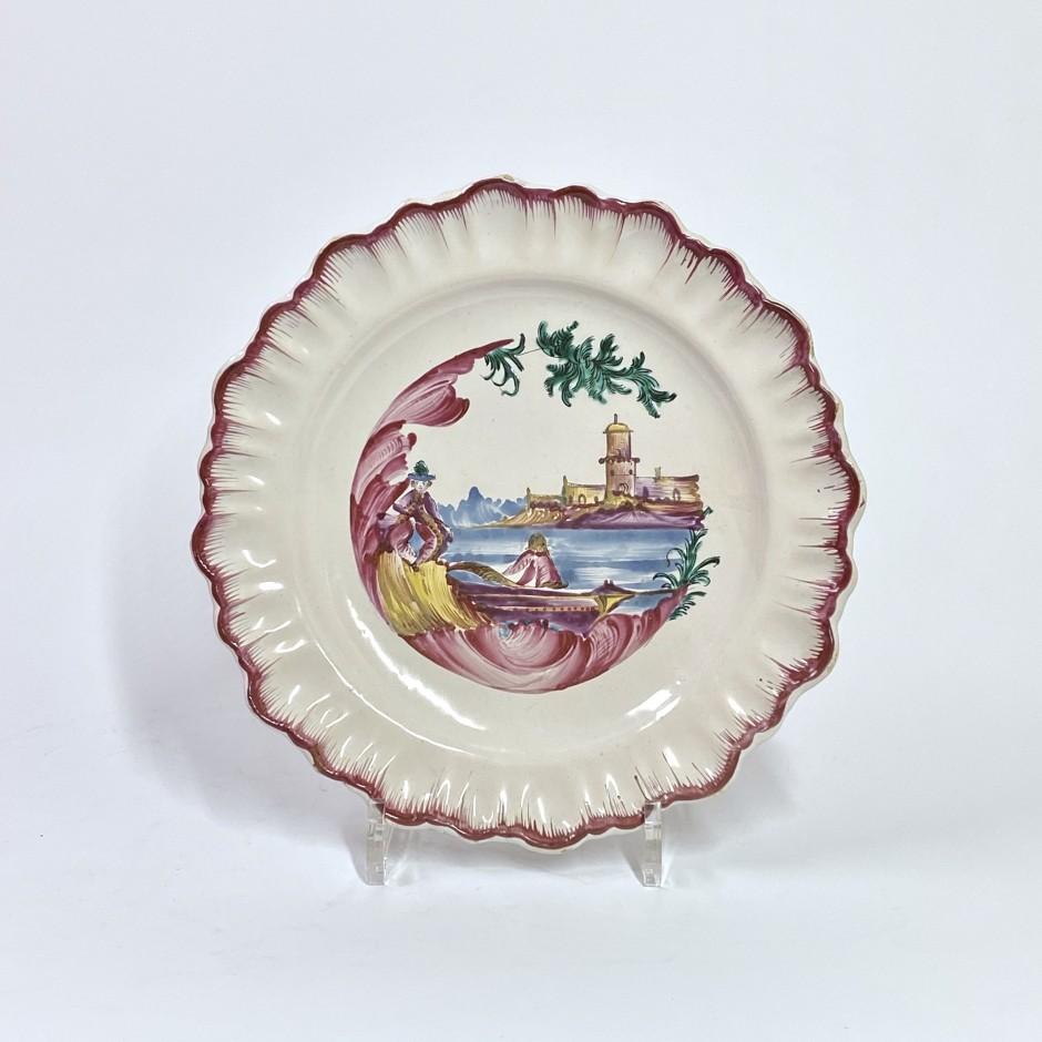 Assiette en faïence de Moustiers - Manufacture de Ferrat - XVIIIe siècle