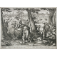 Talavera de la Reina (Tolède) - Grande jarre à décor de scène de chasse aux oiseaux - 1680-1700