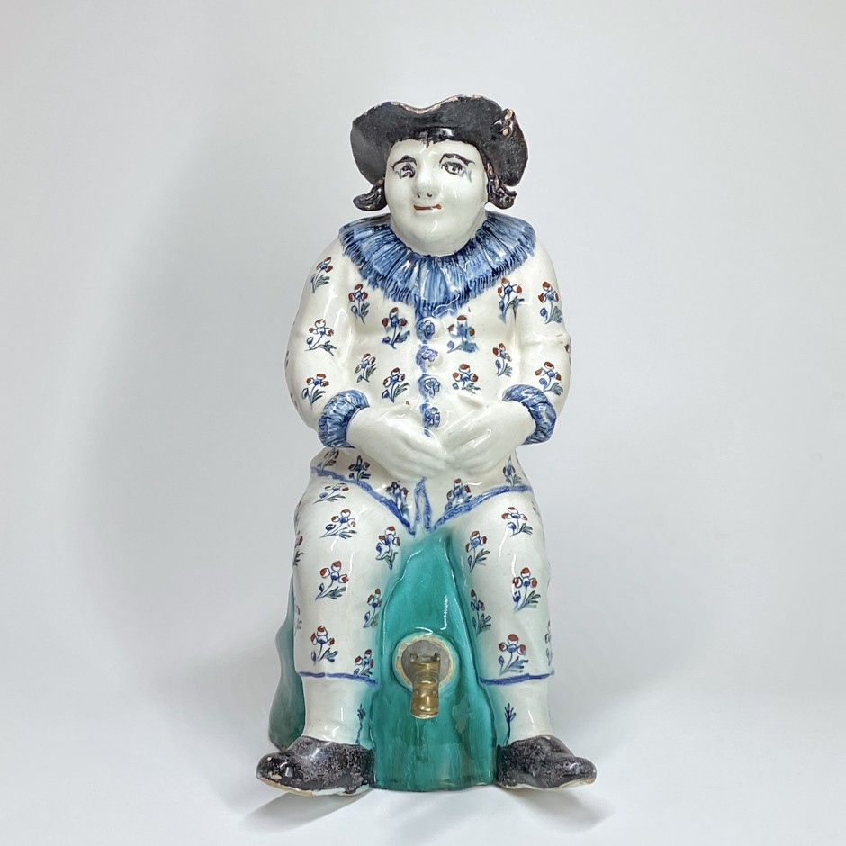 Bruxelles - Fontaine figurant un personnage assis - XVIIIe siècle