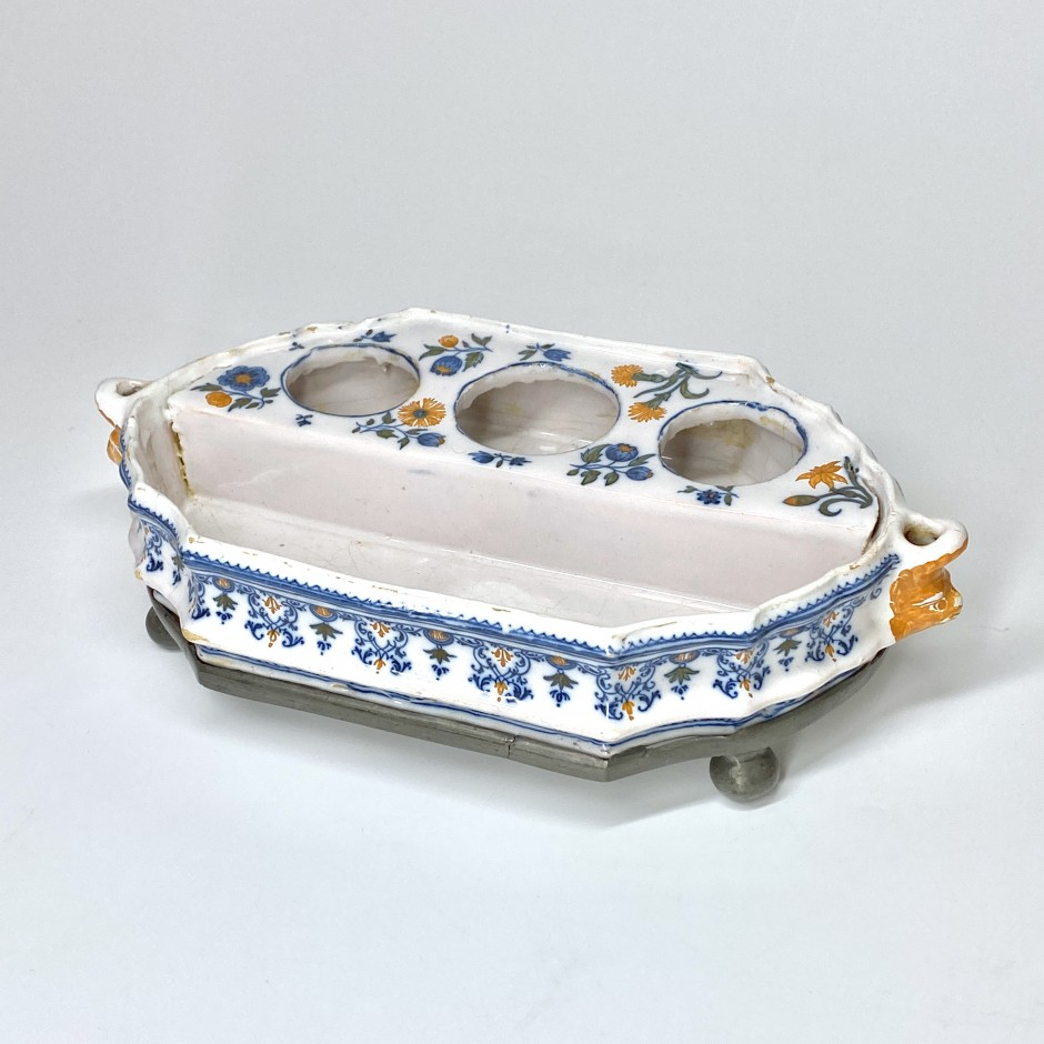 Moustiers - Earthenware writing case - Mid Eighteenth century