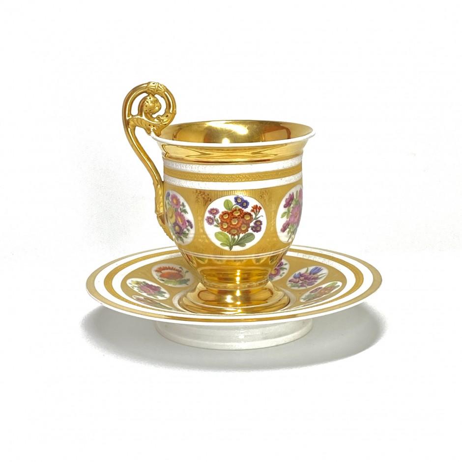 PARIS - Grande tasse à chocolat - Vers 1830