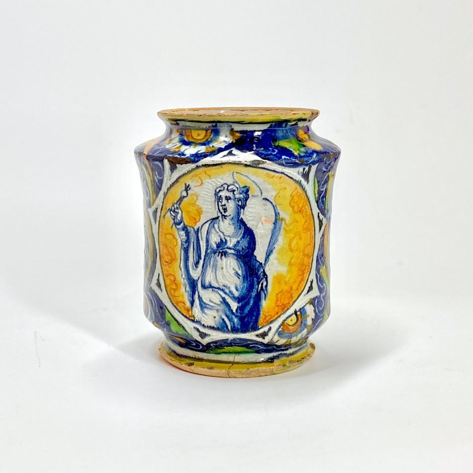 Albarello cintré en majolique de Venise - Atelier de Maestro Domenico - XVIe siècle