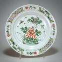 China - Green Family Porcelain Plate - Kangxi Period