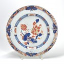 China - Dish with imari decoration with butterflies - Qianlong period (1736-1795)