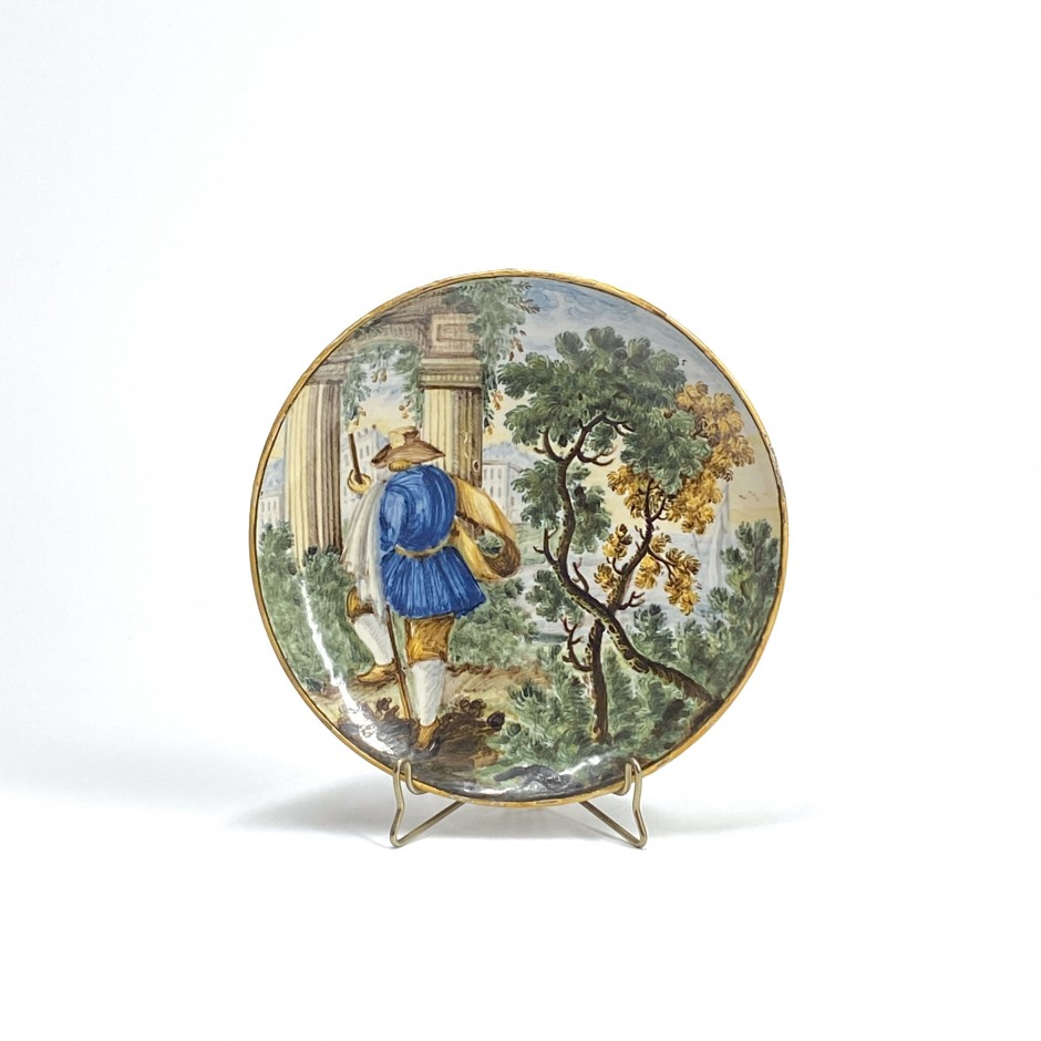 Castelli - Earthenware cup with polychrome decoration - Eighteenth century