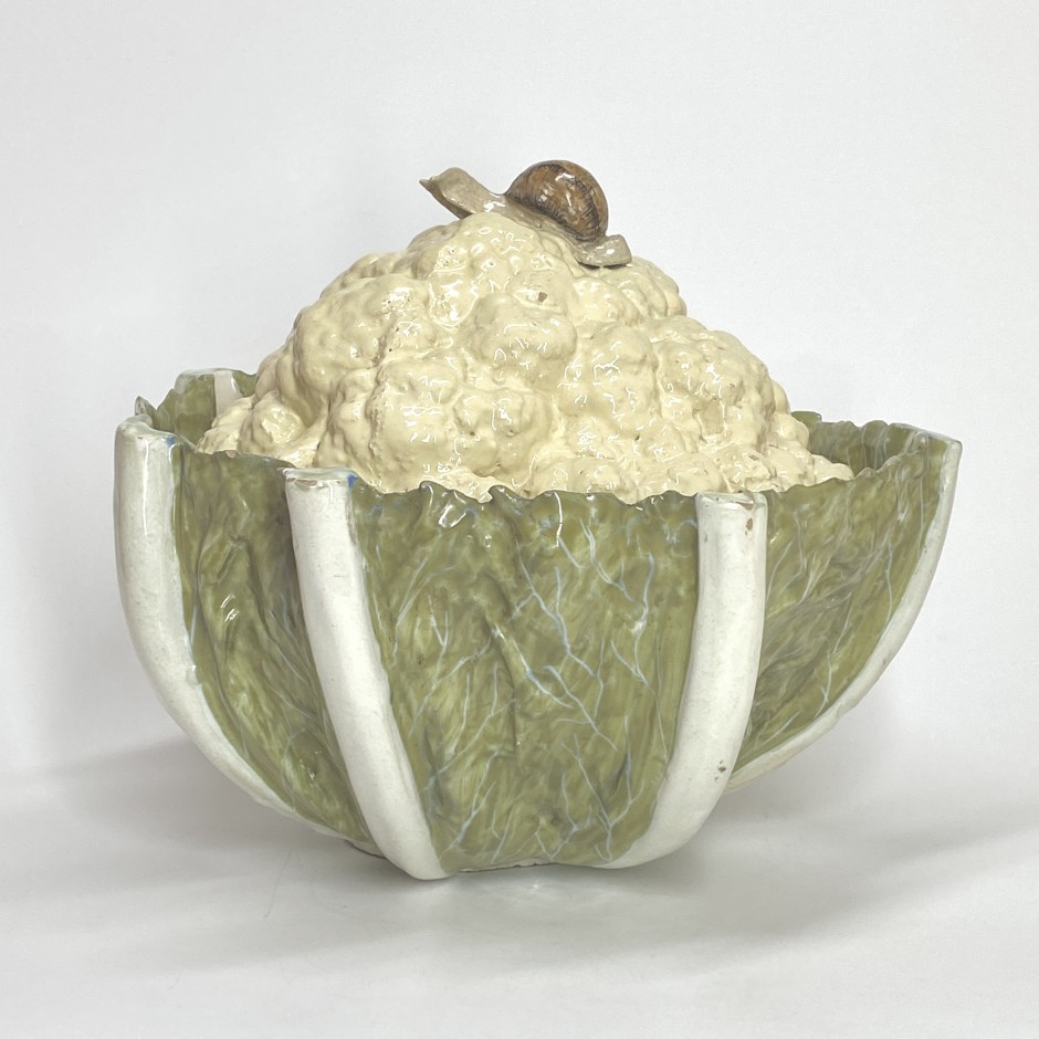 Cauliflower trompe-l'oeil terrine - Germany? - Eighteenth century