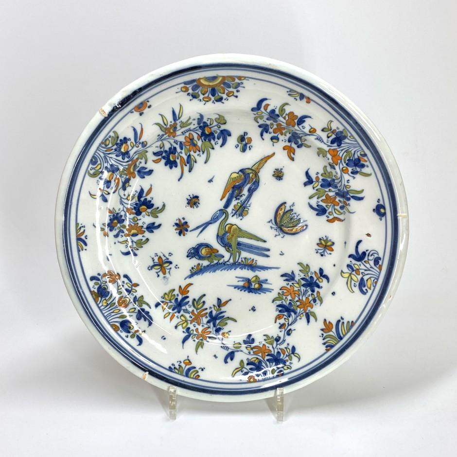 Alcora (Espagne) - Plat aux oiseaux - XVIIIe siècle