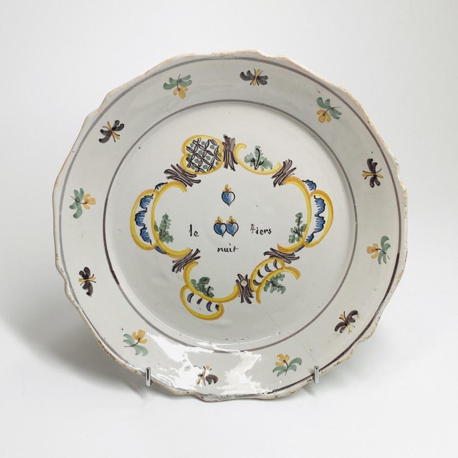 Nevers - counter revolutionary plate - Eighteenth century