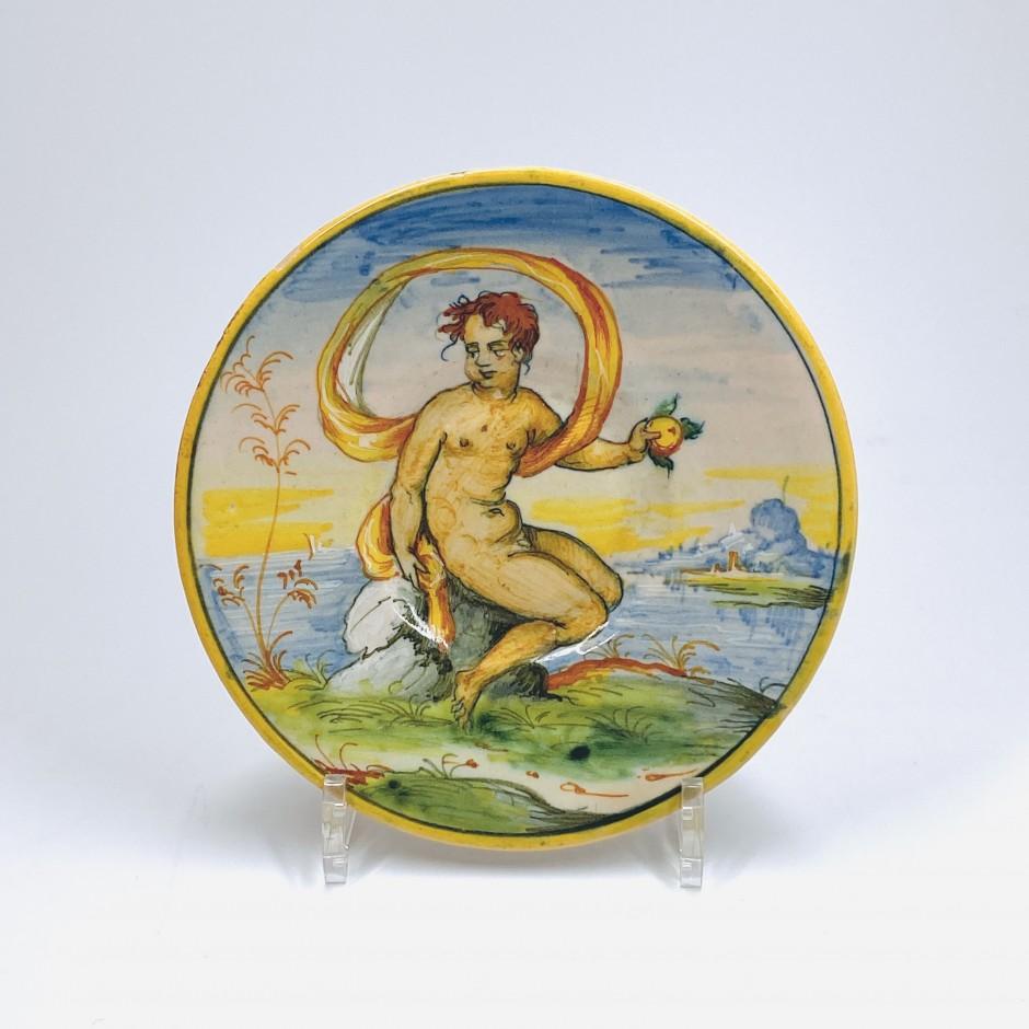 Petit tondino en majolique de Venise - XVIe siècle