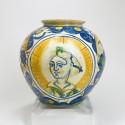 Sicile - Vase boule en majolique - XVIIe siècle