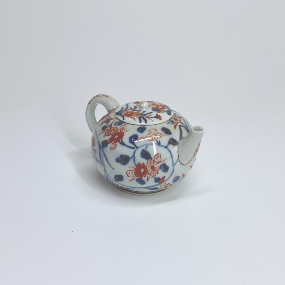 Petite théière à décor imari en porcelaine du Japon - XVIIIe siècle