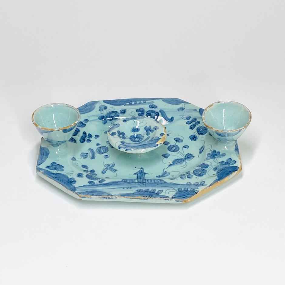 Savona earthenware egg dish - End of the seventeenth century