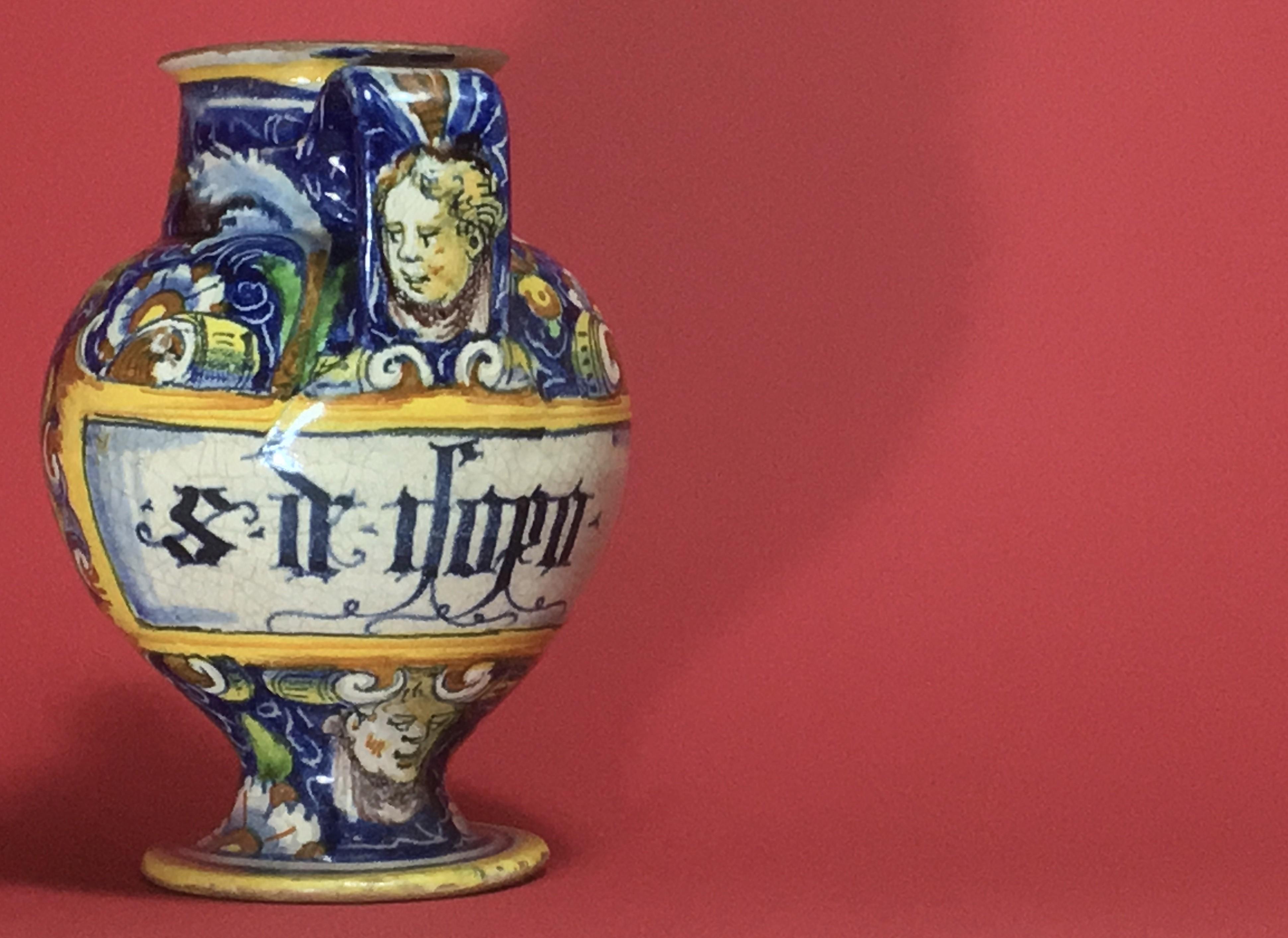 VENICE - RARE VASE OF APOTHECARY - ATELIER DE MAESTRO DOMENICO - SIXTEENTH CENTURY