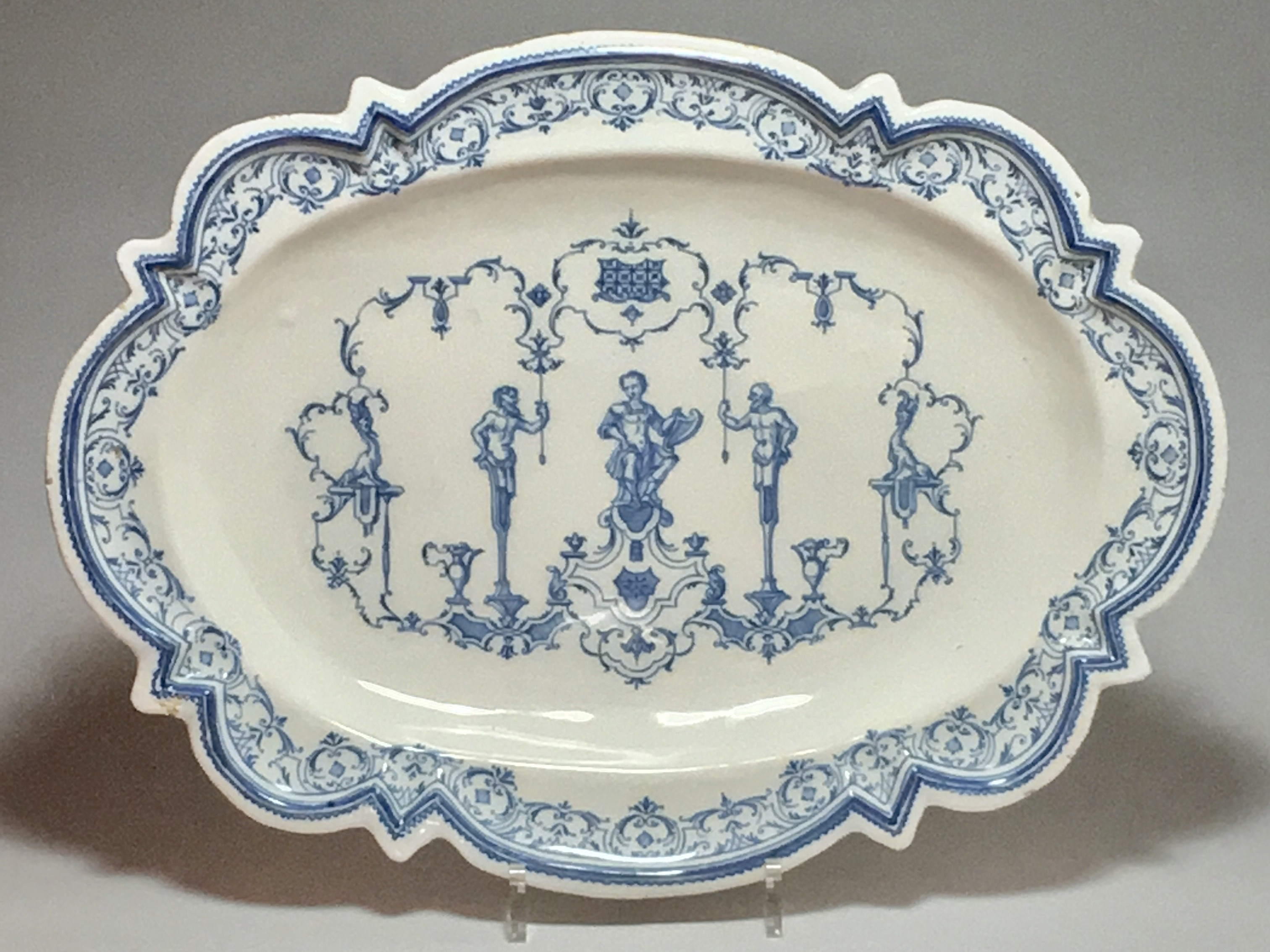 LYON - DISH WITH BERAIN - EIGHTEENTH CENTURY