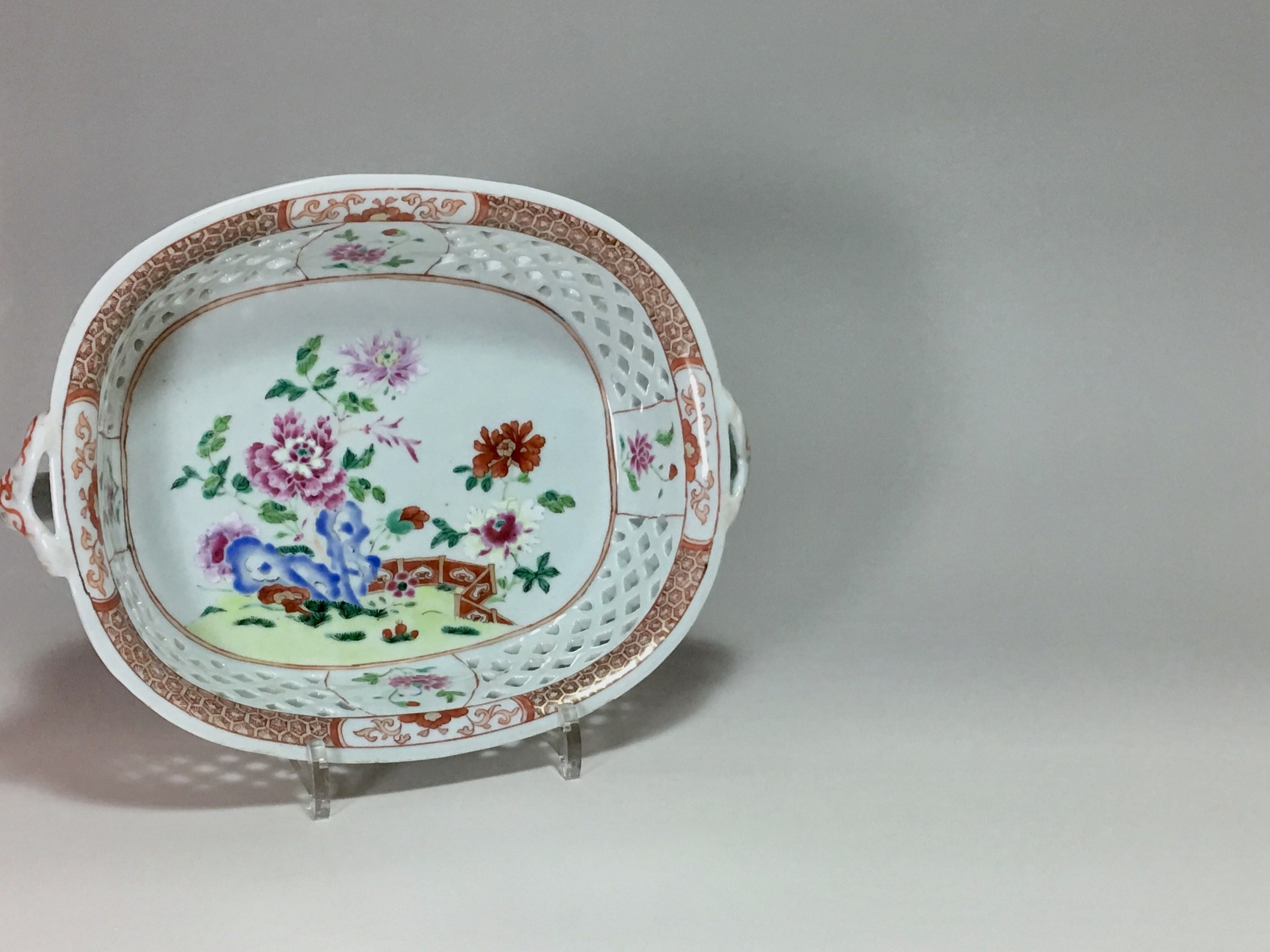 EAST INDIA COMPANY PORCELAIN - OPENWORK BASKETS FAMILY ROSE - EIGHTEENTH CENTURY