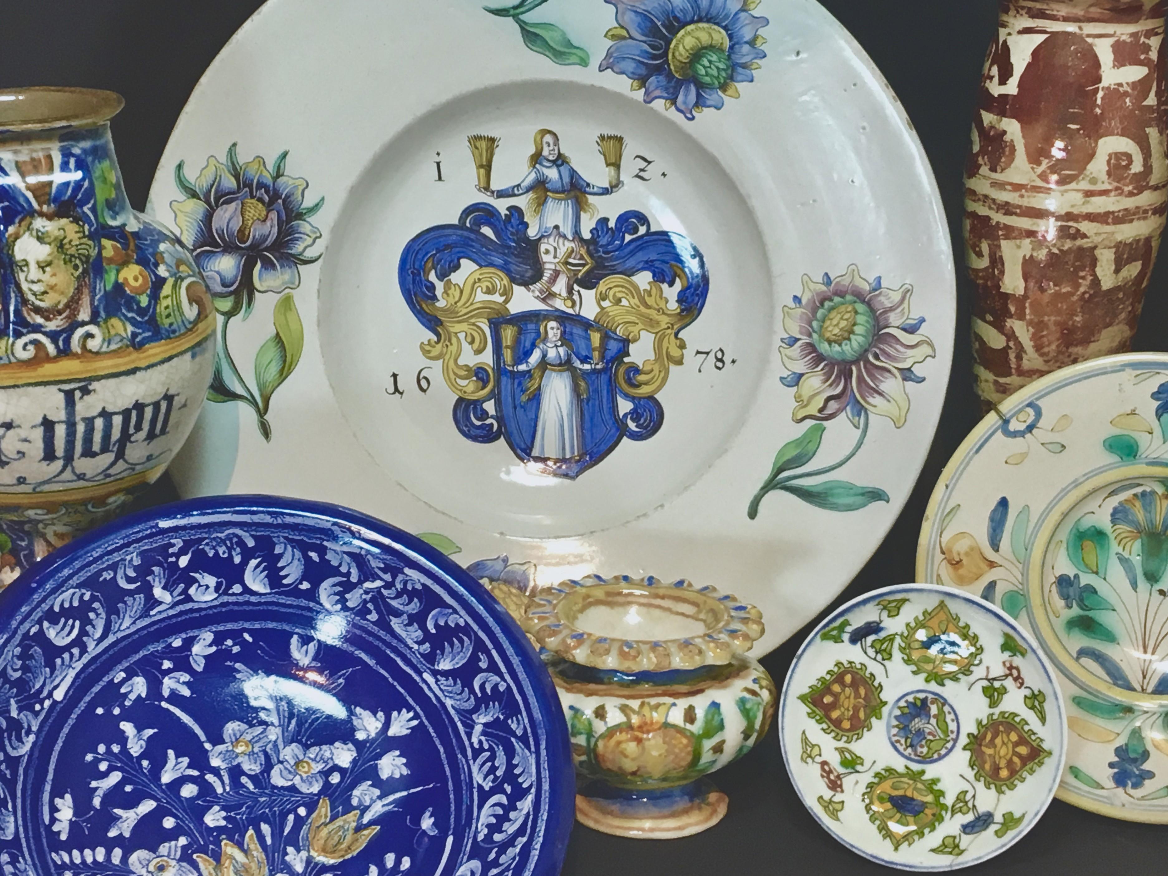 Diverses céramiques du XVIe et du XVIIe Siècle